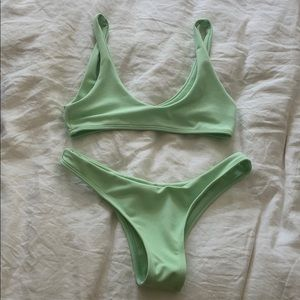 ZAFUL mint green bikini